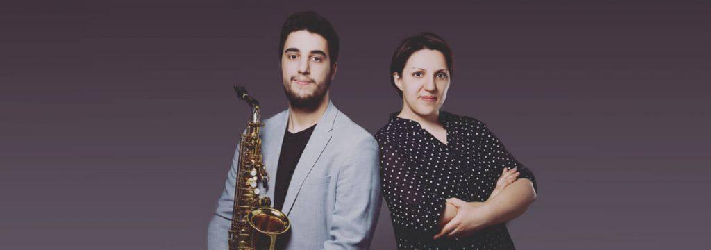 Anna Sadoian im Duo mit Saxophonisten